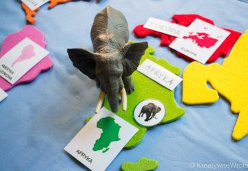 Mapa świata Montessori