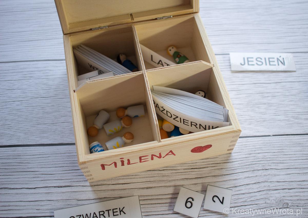 ruchomy kalendarz z laleczkami