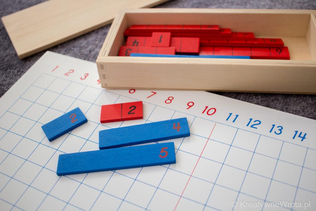Montessori - tablica do nauki dodawania